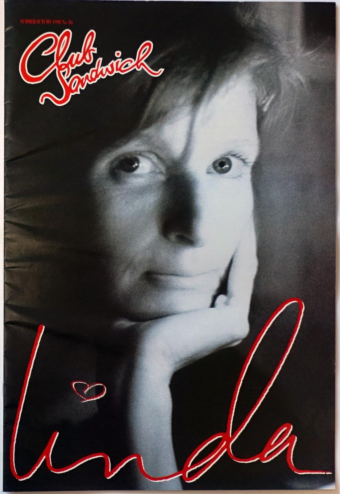リンダの追悼号となったポールのファンクラブ冊子『クラブ・サンドウィッチ』(98年夏秋号)。