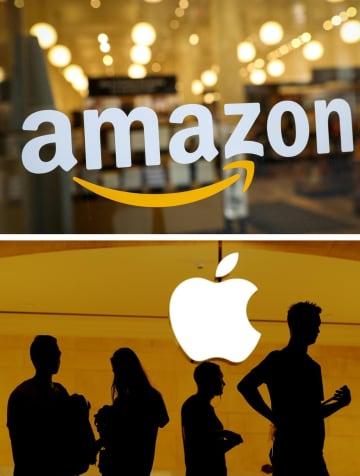 米決算、アマゾンとアップル増収 巣ごもり消費、1~3月期 画像1