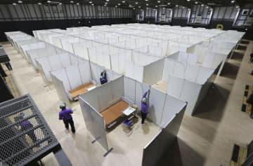 コロナ患者の滞在施設公開、品川 日本財団、病床不足に対応 画像1