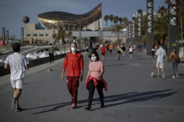 スペイン、外出制限を一部緩和 50日ぶり、散歩や運動大丈夫 画像1