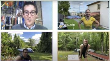棒高跳びでオンライン対決 3選手が自宅庭から参加 画像1