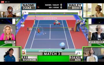 錦織、大坂らがゲームでプレー 著名人と慈善テニス大会 画像1