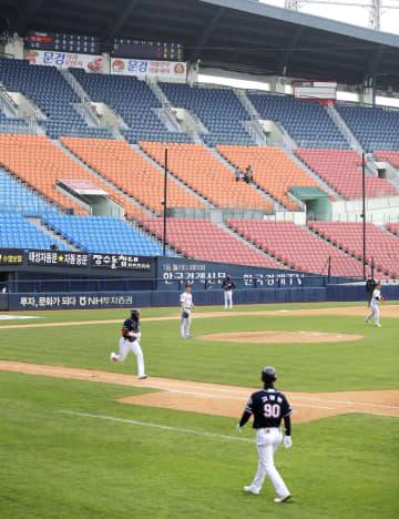 韓国プロ野球、無観客で開幕 ファン、中継で楽しむ 画像1