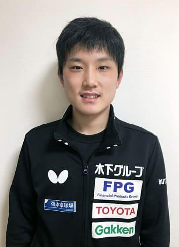 卓球男子の張本「V確率増える」 東京五輪の延期に、地元で練習 画像1