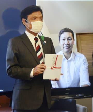 ソフトB中村選手が1千万円寄付 医療従事者支援に、福岡 画像1