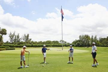 米、コロナ後初のゴルフ中継 「前進」とトランプ氏 画像1