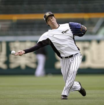 阪神の青柳、打者との対戦熱望 実戦見据え、変化球に重点 画像1