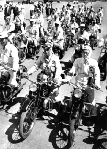 <あのころ>東京―神戸で性能テスト 国産オートバイ36台参加 画像1