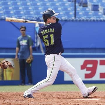 ヤクルト浜田、エースから本塁打 19歳、紅白戦で1軍昇格決める 画像1