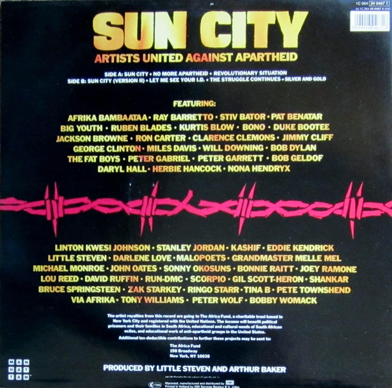 『サン・シティ』のジャケット裏面には、そうそうたる面々と並んでザック・スターキーの名が。