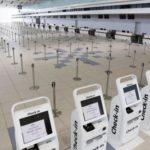 新型コロナウイルス感染拡大の影響で、閑散とする新千歳空港の国際線ターミナル=5月20日