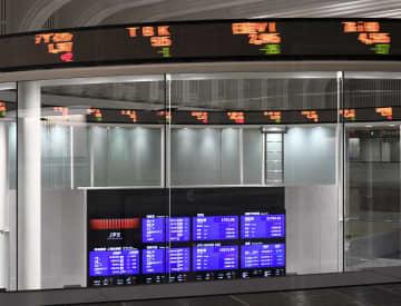 東証7営業日ぶり反落、87円安 相場の過熱を警戒、利益確定売り 画像1