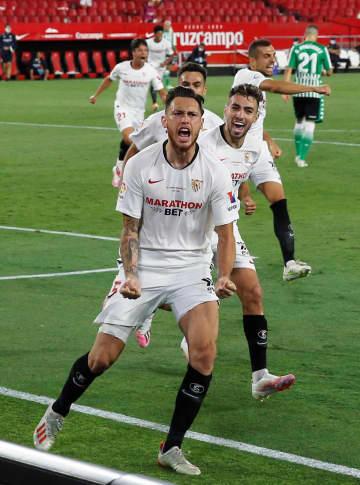 サッカー、スペイン1部が再開 無観客、セビリアが勝利 画像1
