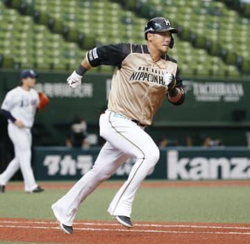 西1―2日(20日) 中田が逆転2点二塁打 画像1
