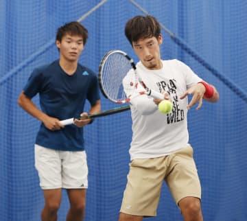 テニス杉田、高1生と合同練習 「経験伝えることは勉強になる」 画像1