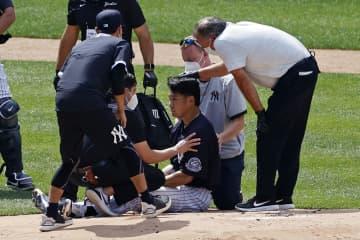 ヤンキース田中、頭部に打球 精密検査で異常なし 画像1