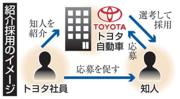 トヨタ、社員の紹介採用を導入 人材獲得の新手法、普及加速 画像1