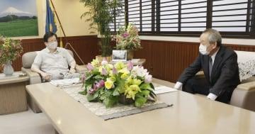 リニア準備工事容認せず 静岡知事、国交次官提案に 画像1