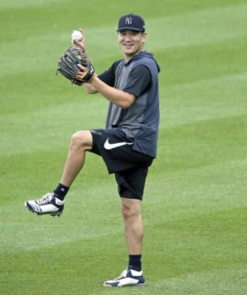 ヤンキース田中がキャッチボール 頭部に打球、既に再開 画像1