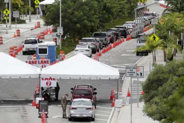 コロナ新規感染者1万5千人超 米フロリダ、最多を更新 画像1