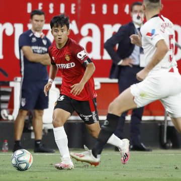 サッカー、久保建英は終盤に交代 スペイン1部リーグ 画像1