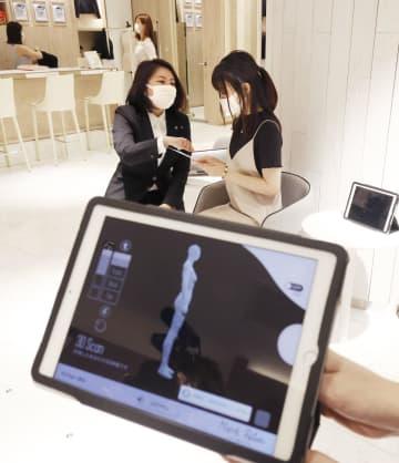 伊勢丹新宿店、3D計測で服提案 「マッチパレット」、女性客に 画像1