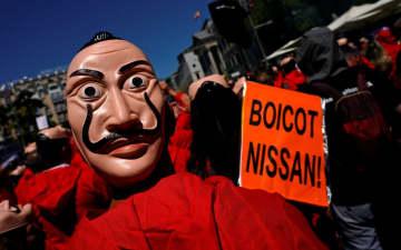 日産工場閉鎖で抗議、スペイン 従業員1500人が首都でデモ 画像1
