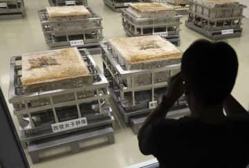 よみがえった「飛鳥美人」公開 高松塚古墳壁画、修復後初 画像1