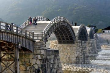 錦帯橋をバイクで走行した容疑 山口・岩国、40歳男を逮捕 画像1