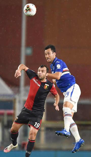 吉田麻也、ダービーでフル出場 サッカーのイタリア1部 画像1
