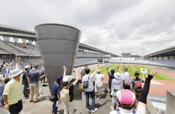五輪ボランティア、会場を見学 宮城のサッカー会場、意欲向上へ 画像1