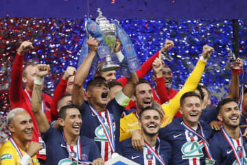 パリ・サンジェルマンが仏杯優勝 4カ月半ぶり公式戦で2冠達成 画像1
