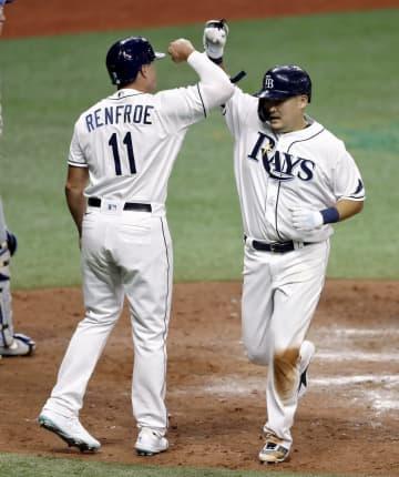 レイズ筒香は4打数1安打2打点 「3番・三塁」、左中間に本塁打 画像1