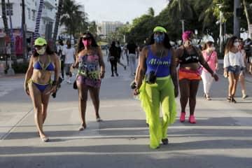 米フロリダの感染者、NY上回る 最多カリフォルニアに次ぎ2位に 画像1