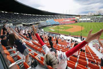 韓国プロ野球に久々の声援 開幕後初の観客、1割限定 画像1