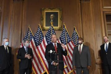米与党、失業給付上積み減提案へ コロナ追加策、105兆円 画像1