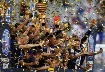 サッカー、パリSGが国内3冠 リヨン退る、仏リーグ杯 画像1
