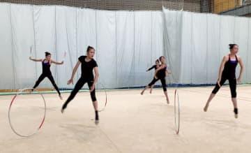 新体操杉本、金へ「努力したい」 協会、日本代表の練習動画を公開 画像1
