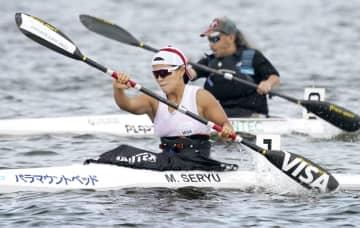 カヌーの瀬立、今季初の実戦形式 パラ代表、石川でレース出場 画像1