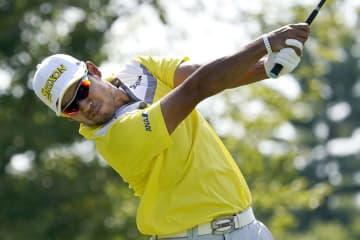 ゴルフ、松山は12打差58位 米ノーザントラスト第2日 画像1