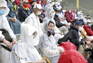 ラグビー釜石がヤマハと交流試合 コロナ対策、観客は拍手で応援 画像1