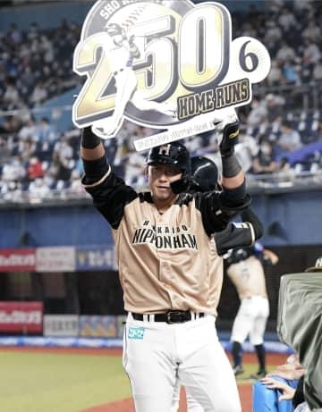 日ハム中田が通算250本塁打 ロッテ戦で5試合ぶりの一発 画像1
