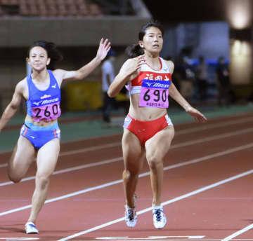 女子100m、児玉が11秒35 陸上、日本学生対校選手権第2日 画像1