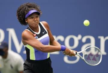 大坂、第2セット取り返す 全米テニス女子シングルス 画像1