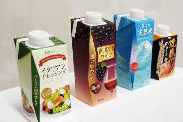 日本製紙、新紙容器でプラ削減 キャップ付きでペットボトル代替 画像1