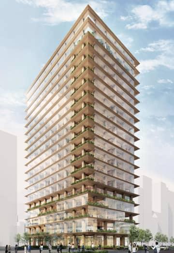 国内最大70mの木造ビル建設へ 17階建て、東京・日本橋に 画像1