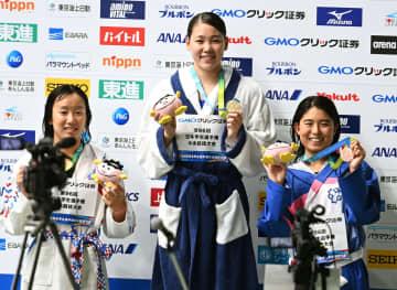 白井璃緒が女子200自でV3 競泳の日本学生選手権 画像1
