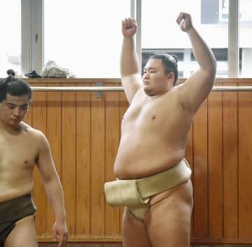 朝乃山、新大関正代が「刺激に」 11月場所に向け稽古再開 画像1