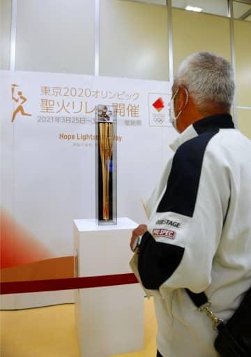 福島で五輪トーチ巡回展始まる 郡山皮切りに、機運醸成へ 画像1