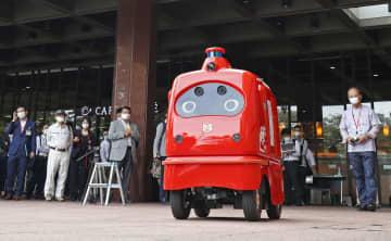 自動配送ロボが公道デビュー 日本郵便が国内初の実験 画像1